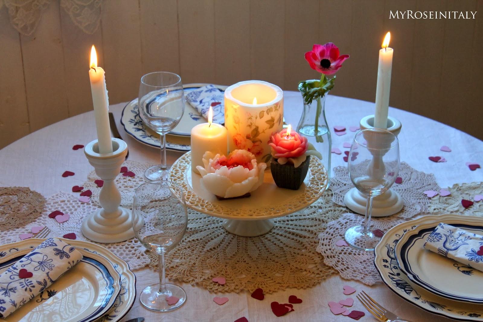 My roseinitaly tavola romantica per san valentino - Tavola di san valentino ...