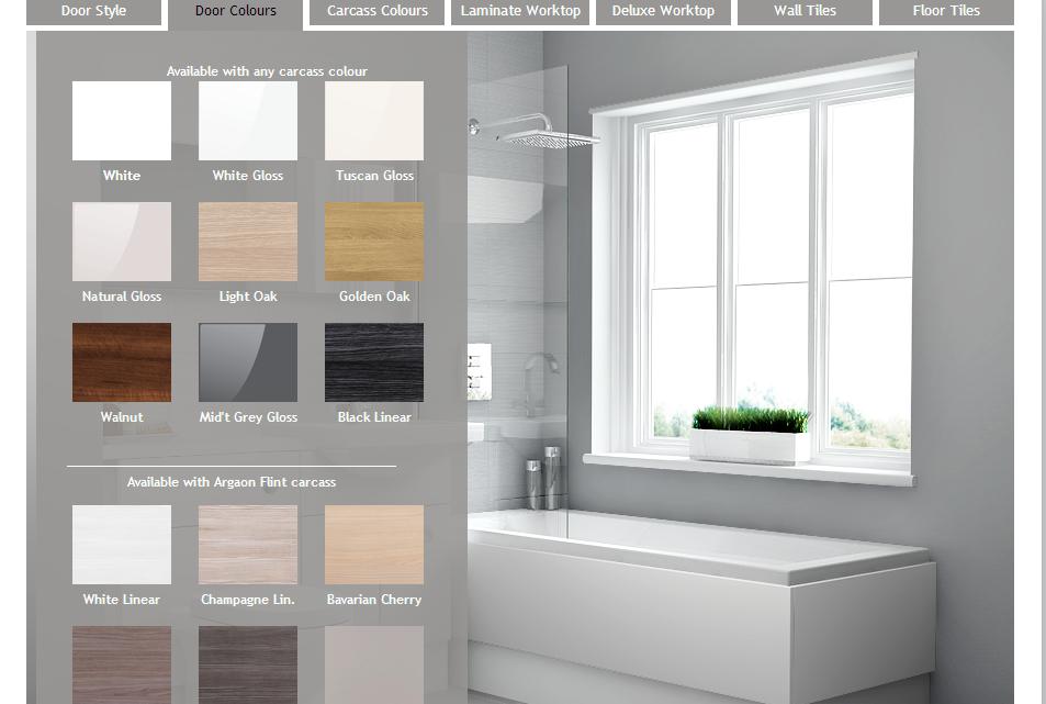 Visualise Bathroom Planner Design Choices