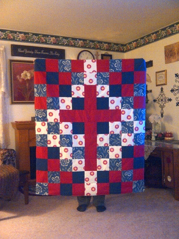 I help the Park View Lutheran Quilting Ministry make quilts by joining them to sew and from home.