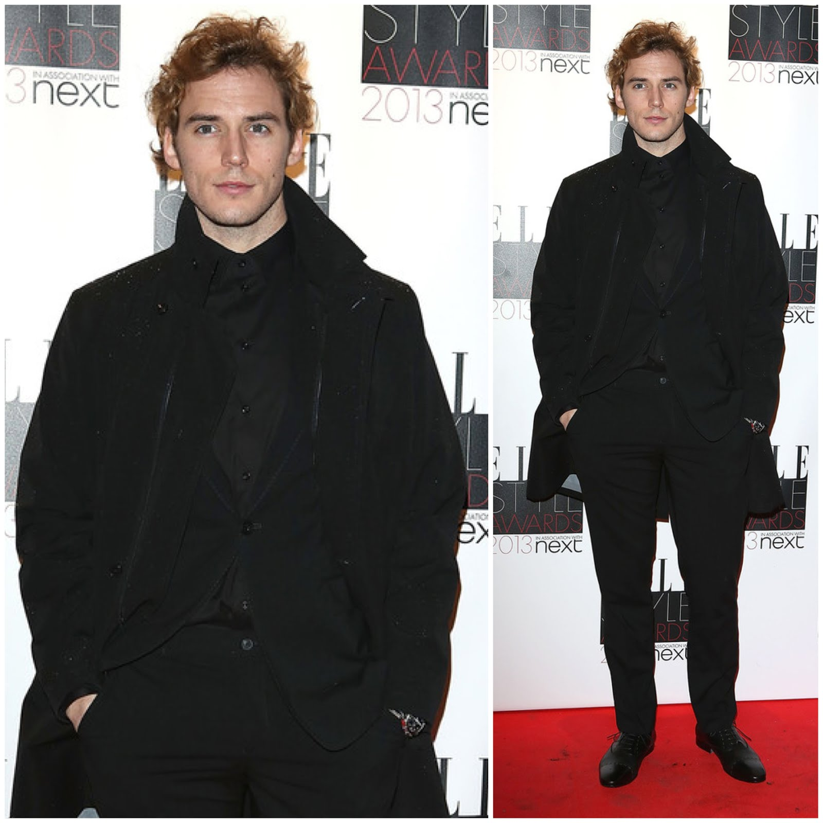 00O00 Menswear Blog Sam Claflin in Emporio Armani - 2013 Elle Style Awards