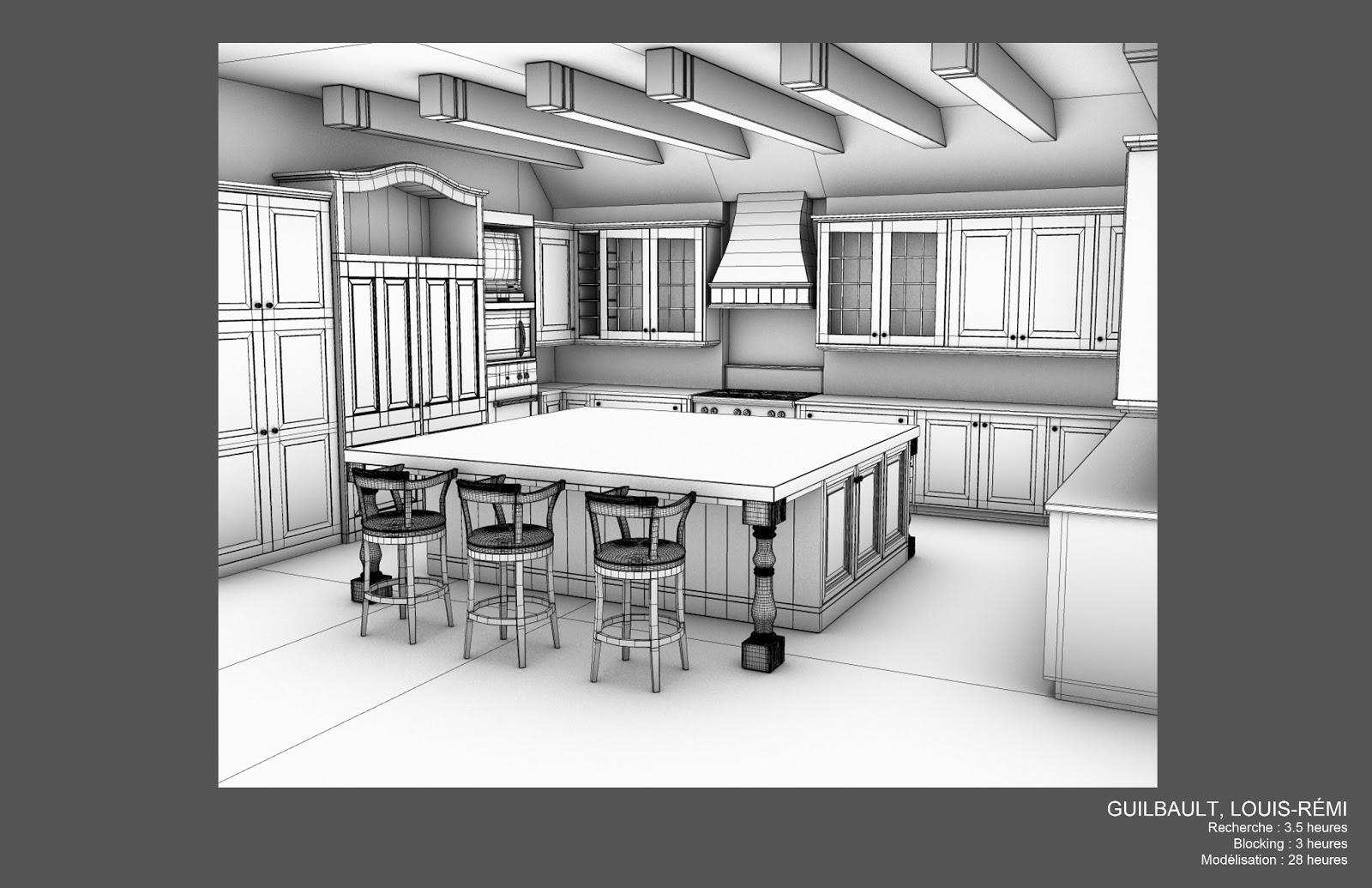 louis r mi guilbault mod lisation d 39 une cuisine 3d semaine 3. Black Bedroom Furniture Sets. Home Design Ideas
