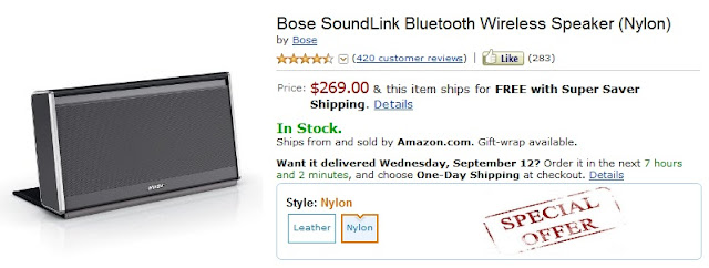 Bose Soundlink Coupon