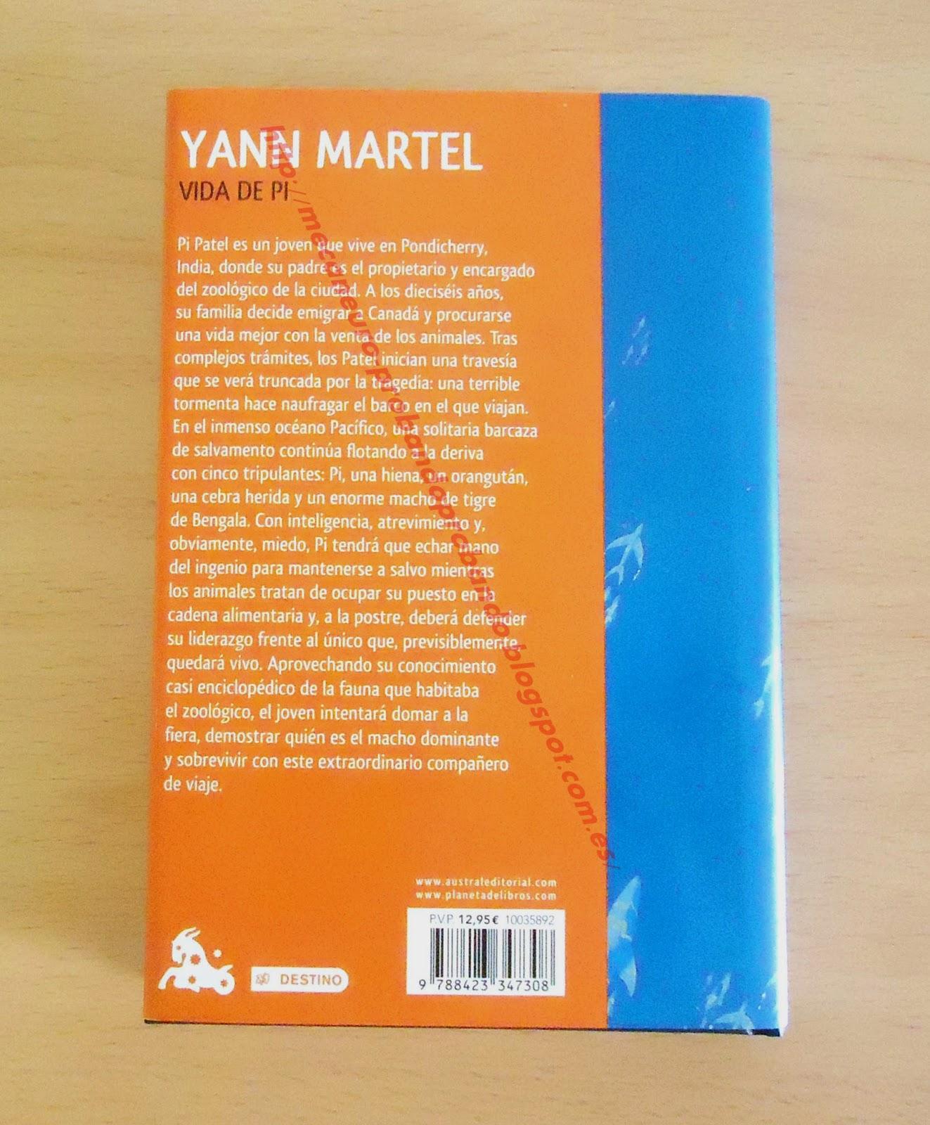 Vida de Pi, Yann Martel