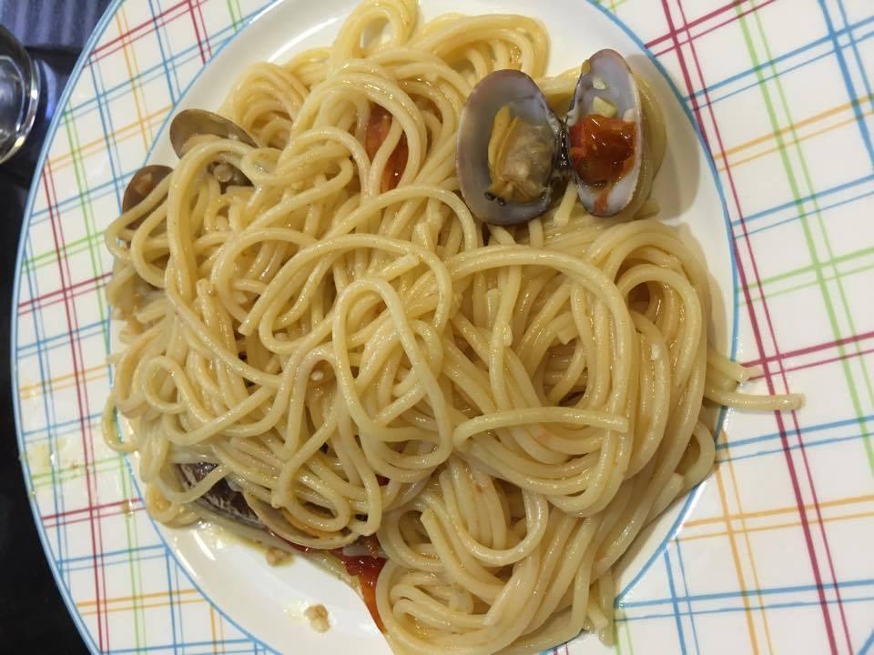 Cuina del nostre poble - Espaguetis con almejas ...