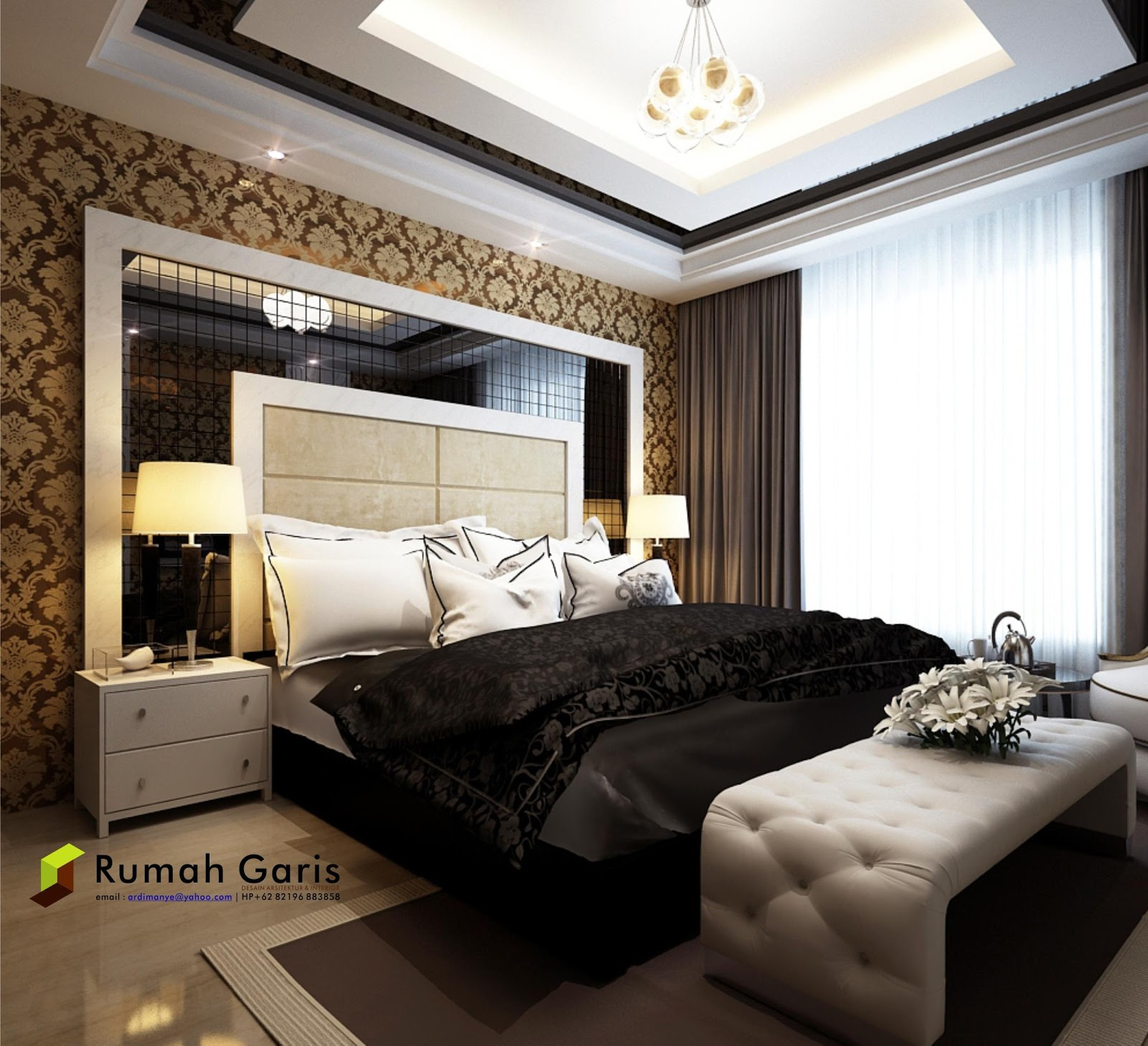Kumpulan Desain Interior Kamar Tidur 3d Render By Rumah Garis Rumah Garis