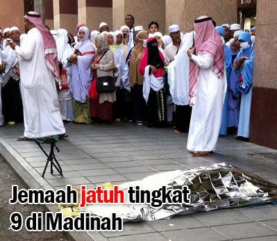Jemaah Haji Jatuh Tingkat 9