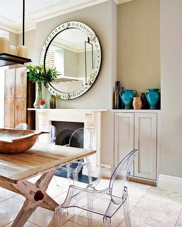 british house with glam chic