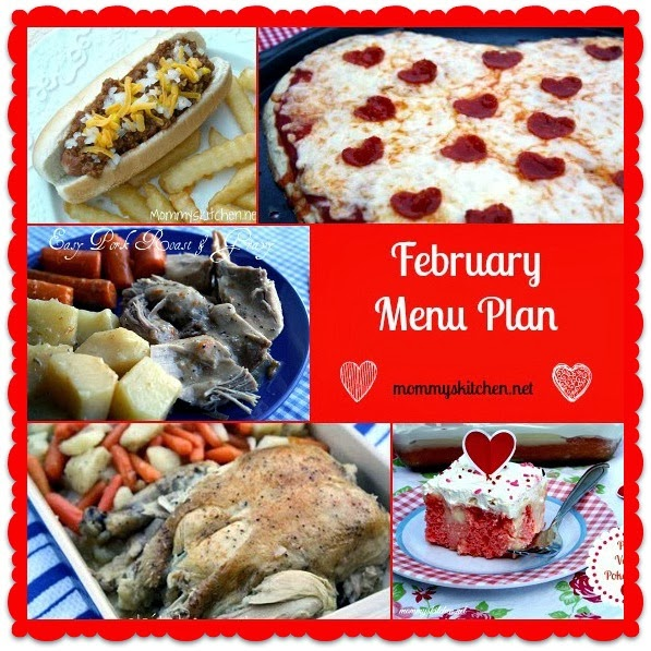 february menu - menu plan monthly