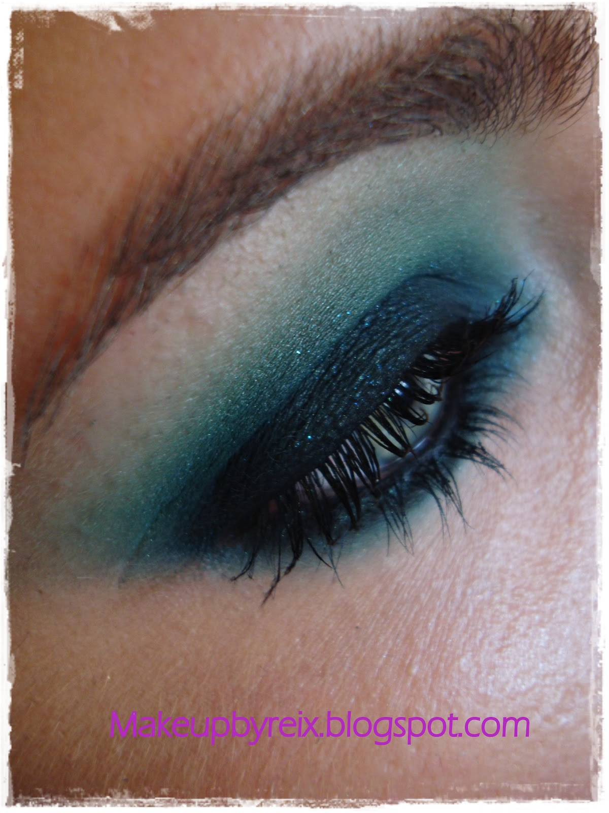 Make up by reix ahumado verde green smokey for Como ahumar los ojos