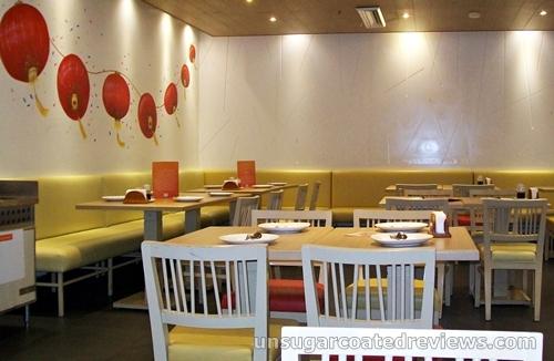 restaurant interiors of Mongkok Dimsum & Noodles
