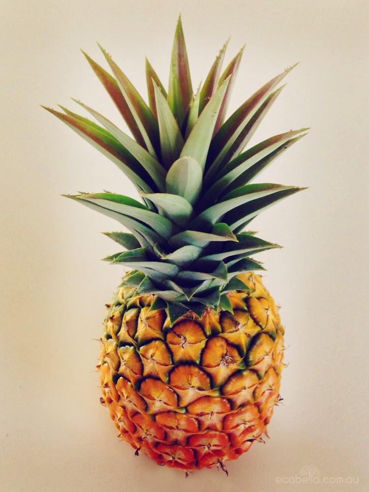 ripe juicy fresh backyard grown pineapple