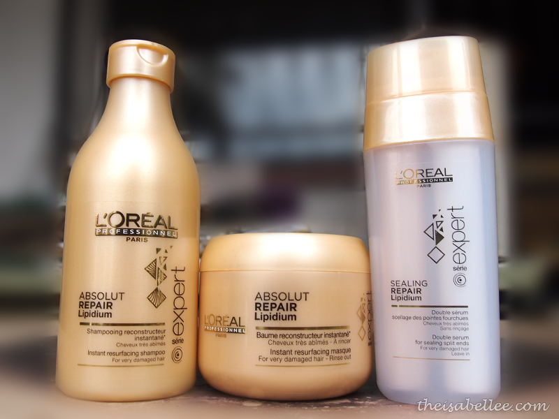L'Oreal Absolut Repair Lipidium Haircare range