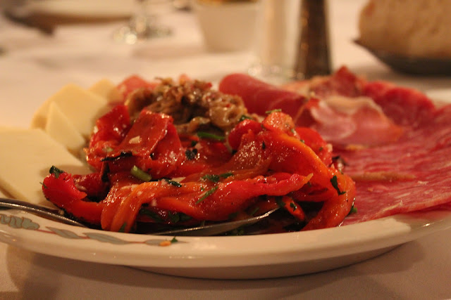 Antipasti platter at Lucia Ristorante, Boston, Mass.
