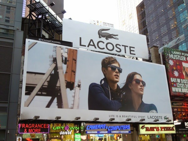 Lacoste Life is a beautiful sport billboard NYC