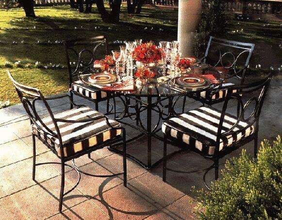 Wrought iron outdoor furniture for Muebles de fierro forjado