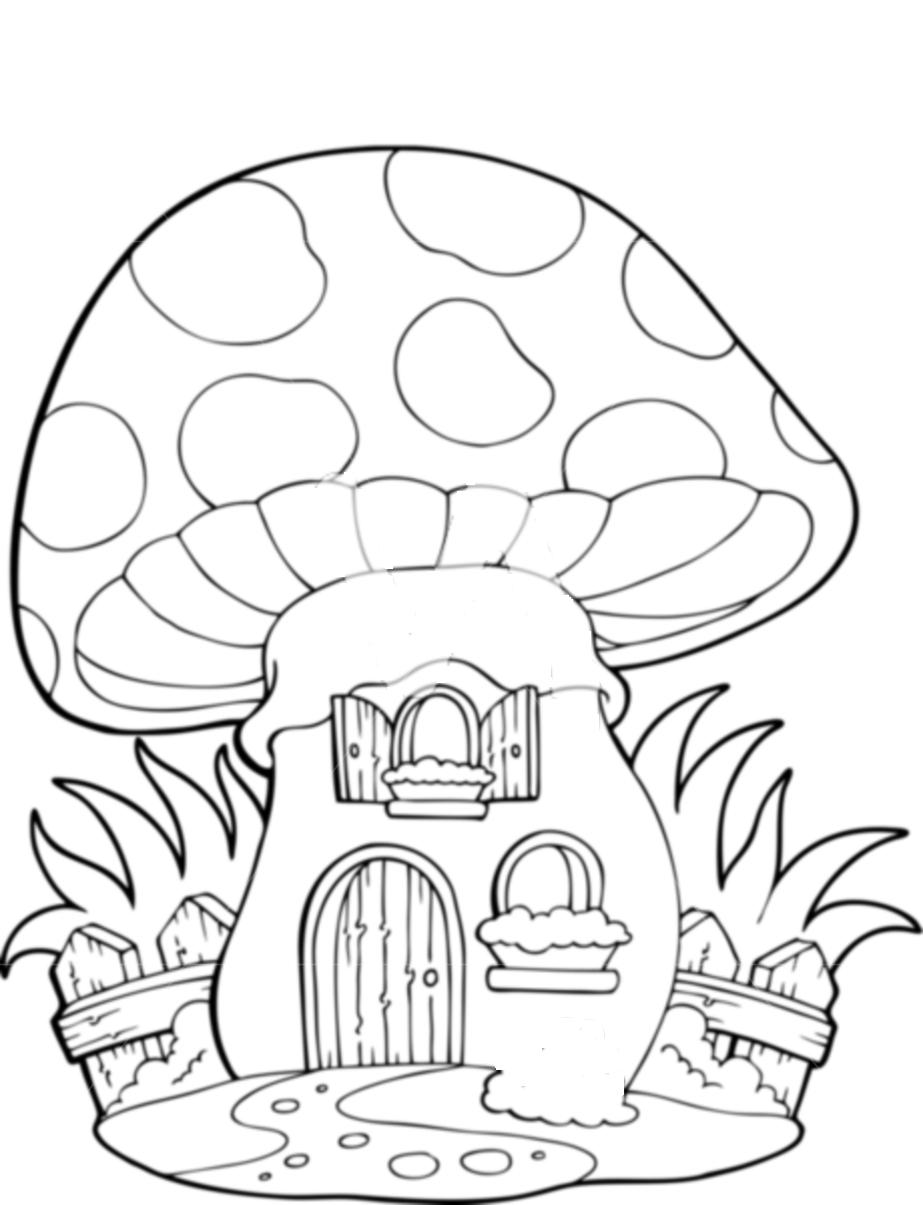 coloring pages mushrooms - photo#26