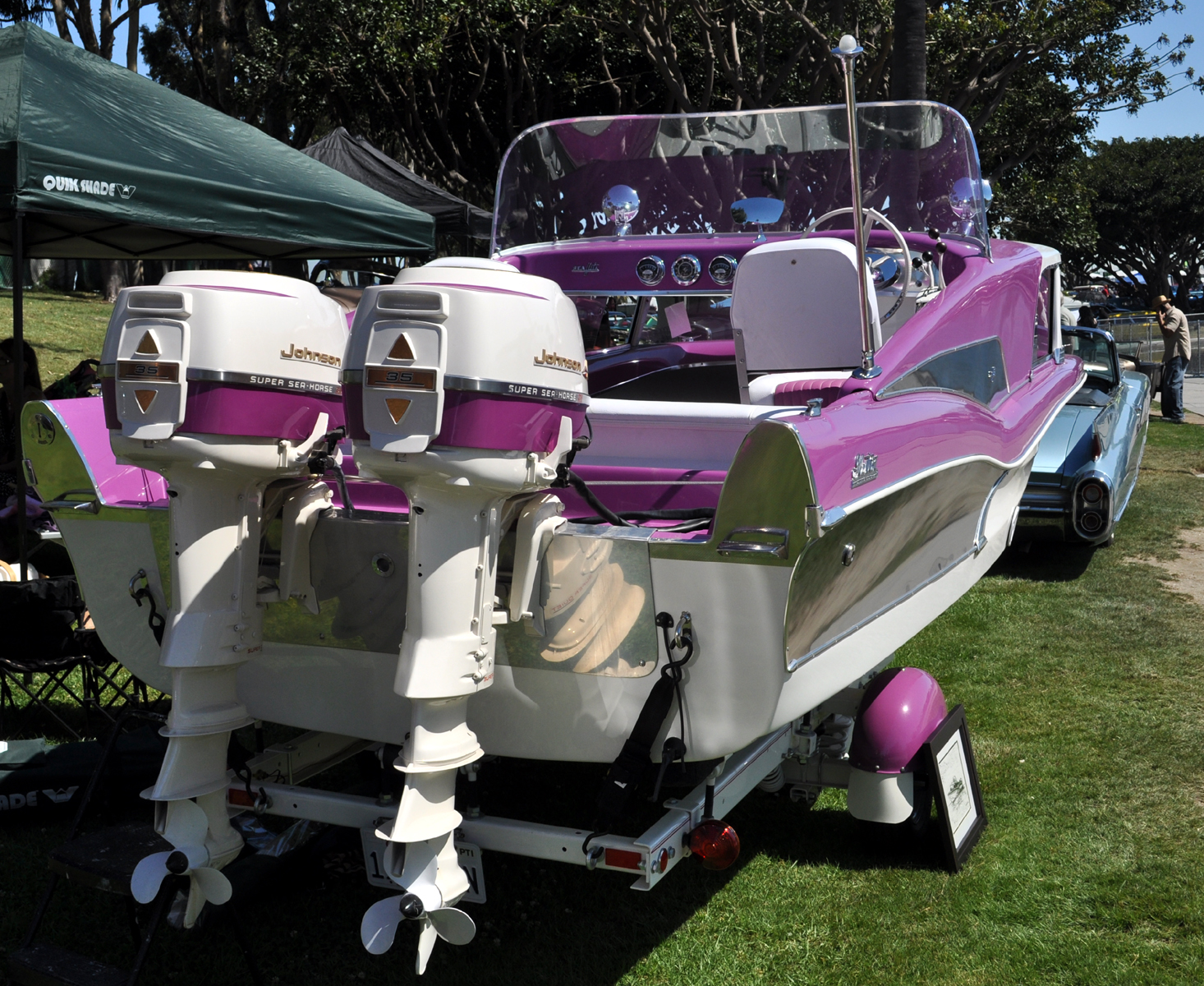 Justa A Car Guy: Cool boat and RV found at the Motorama on