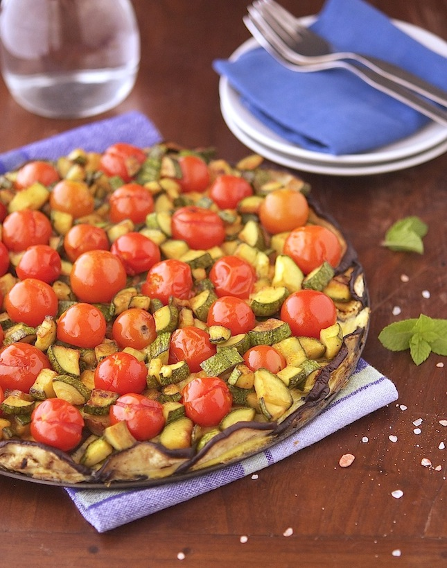 Crustless Veggie Tart