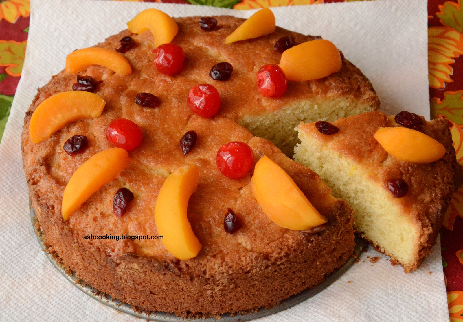 Cake With Fruit Topping : My Cookbook: Honey Glazed Fruit Topped Pound Cake