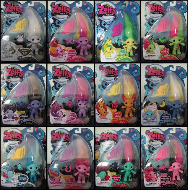 The Zelfs! Angelala, Buttershy, Elfa, Flamy, Garny, Howlette, Lil D, Lunanne, Mermalade, Pega Sue, Spellinda, Vampula.