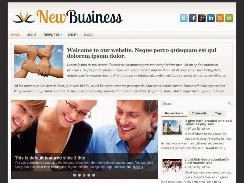 NewBusiness - Free Wordpress Theme