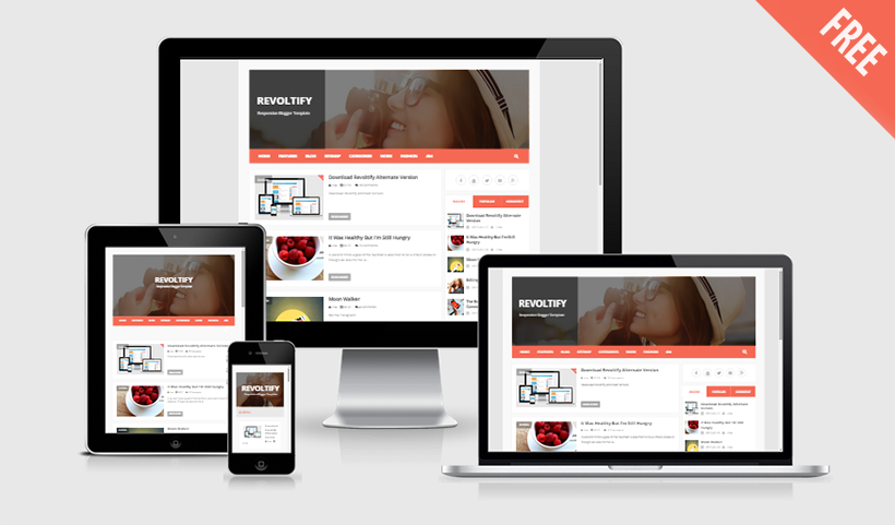 Download Revoltify Responsive Blogger Template