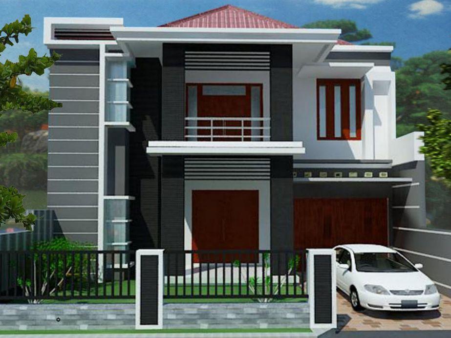 model rumah modern minimalis masa kini tampak depan