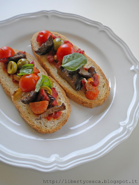 bruschettine con verdure