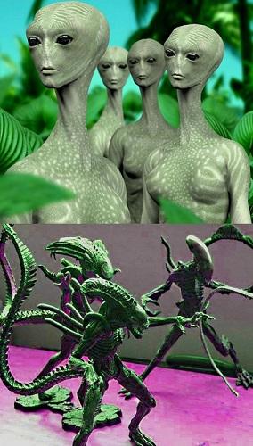 humanos y extraterrestres