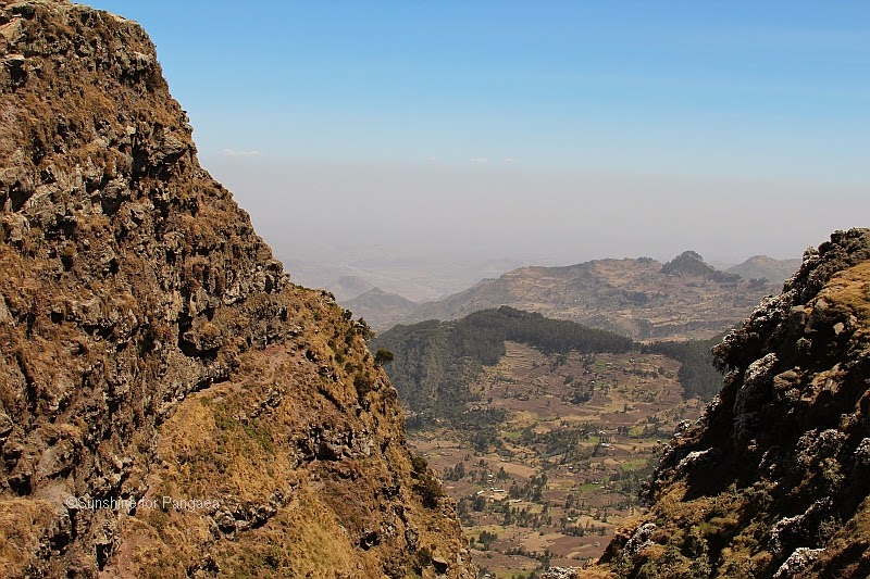 View from the mountains near Derbe Birhan in Ethiopia