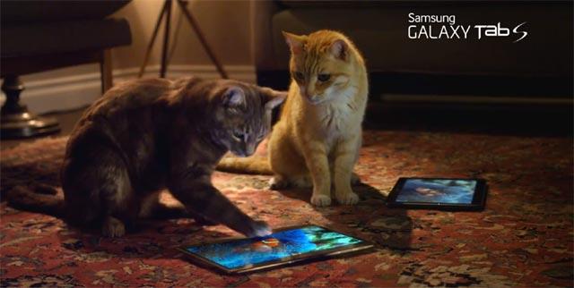 Mininos con la Galaxy Tab S