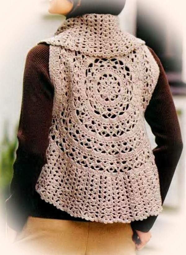 Crochet Circle Pattern Crochet Vest Pattern For Women