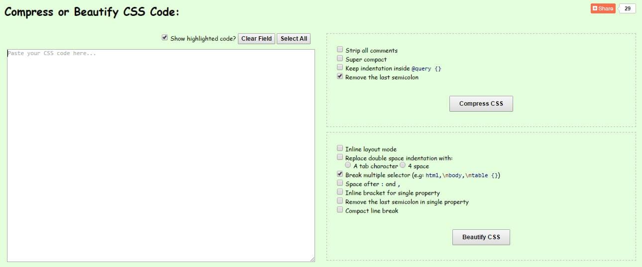 ضغط أكواد الـ Css ، ضغط أكواد Css ، تسريع تحميل المدونة ، تسريع تحميل الموقع ، تسريع عمل الموقع / المدونة ، موقع  compress Css ، CSS minified with CSS Minifier ، Online CSS Compressor & Beautifier ،  CSS Compressor ، مواقع لضغط أكواد المدونة ، أفضل موقع لضغط أكواد Css