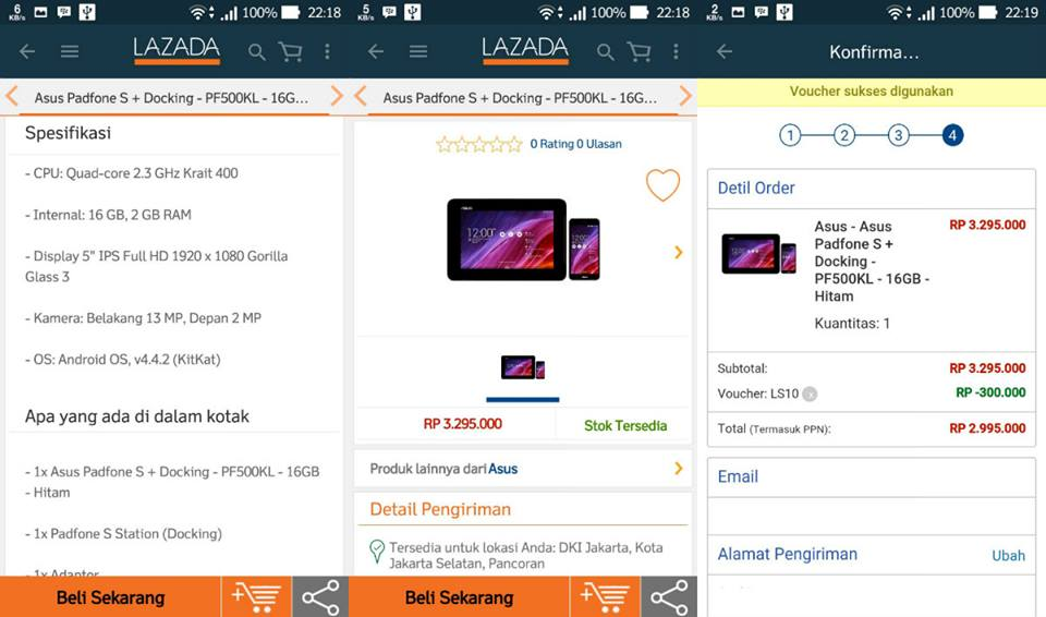 Harga ASUS Padfone S + Docking September 2015