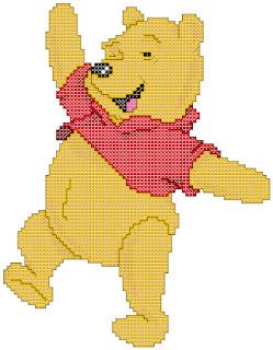 Winnie the Pooh, cross-stitch, back stitch, x-stitch, stitch, free cross-stitch scheme, cartoon, Disney, вышивка крестиком, бесплатная схема, хрестик, punto croce, schemi punto croce gratis