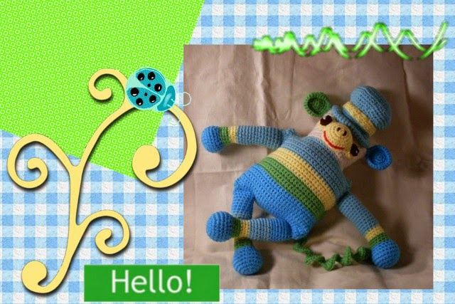 totally cute free crochet amigurumi monkey pattern by Craftybegonia