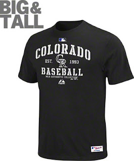 Big and Tall Colorado Rockies T-Shirt