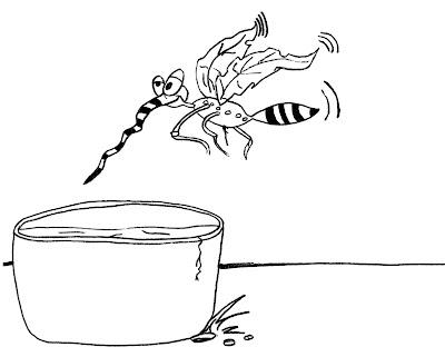 Desenho de mosquito da dengue para colorir. Desenhos diversos para pintar