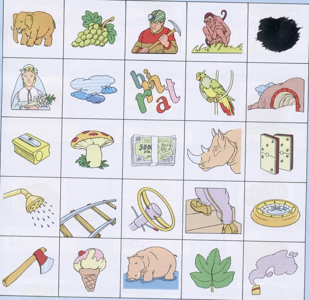 ilustradas para formar palavras em espanhol espanhol para crianças #917F3A 1072 1040