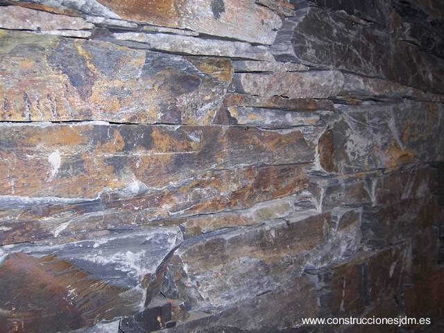 Arquitectura de casas muros y fachadas de piedra natural - Muro de piedra natural ...