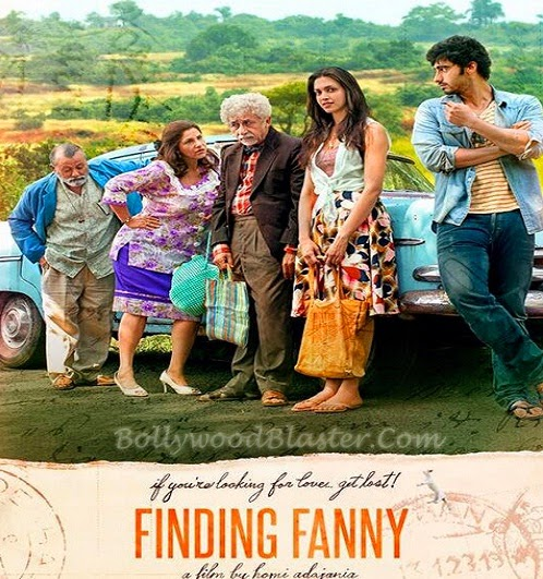 Finding Fanny movie poster 2014,Finding Fanny (2014) Hindi Full Movie Online Review, Wiki, Poster, Release Date