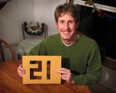 "Happy 21st Birthday, Ben-""Jamin""!"