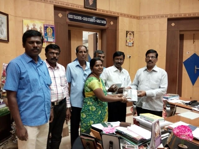 TNPPGTA - TAMILNADU PROMOTED POST GRADUATE TEACHERS ASSOCIATION STATE OFFICE BEARERS TODAY MET DSE DIRECTOR MR.KANNAPPAN AND ALL JD'S TO CONVEY THIER NEW YEAR WISHES AND TO GIVE CERTAIN DEMANDS