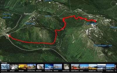 Lake Valhalla Trail Map (Google Earth)