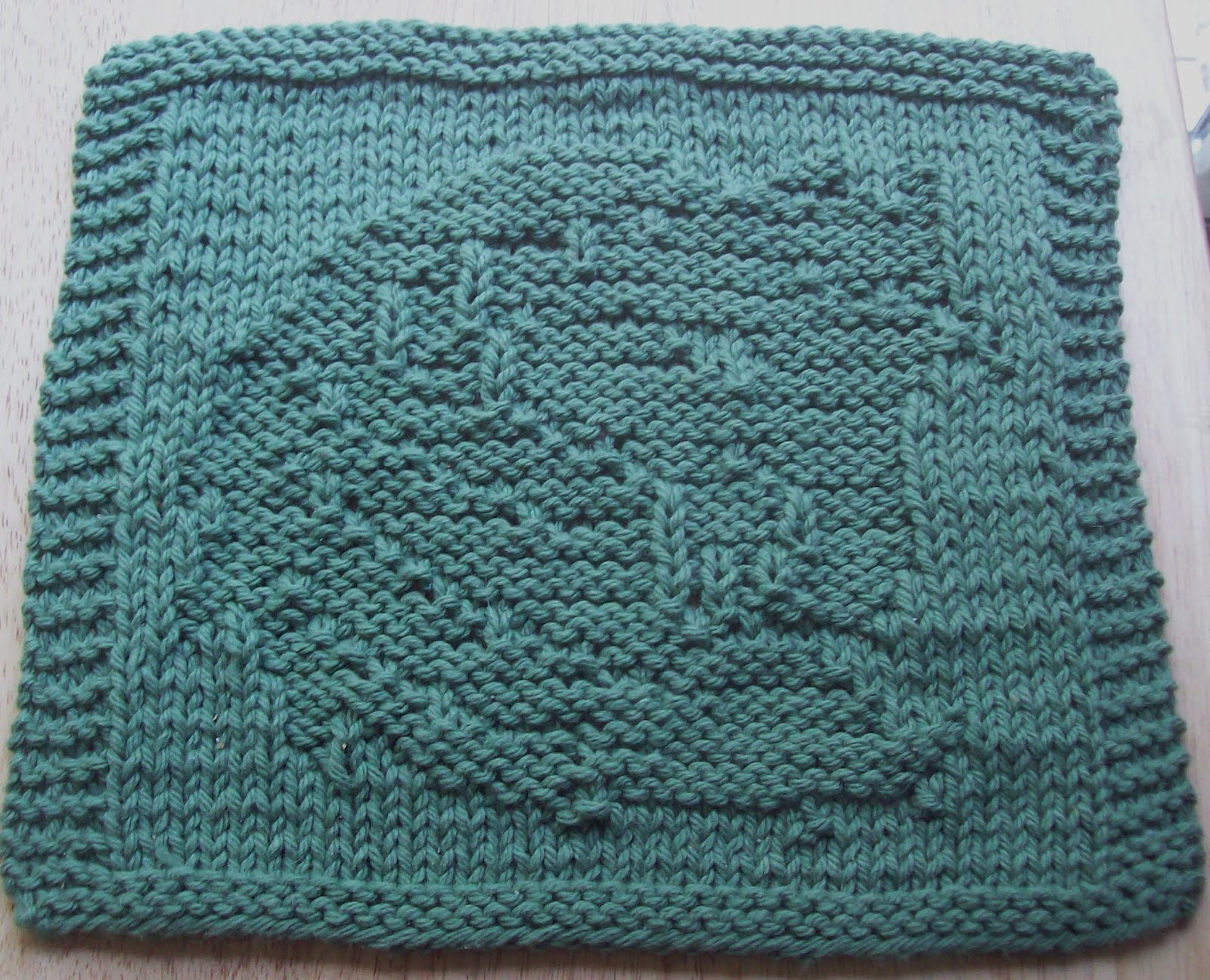 Knit Dishcloth Pattern Horse : DigKnitty Designs: Horse Head Too Knit Dishcloth Pattern