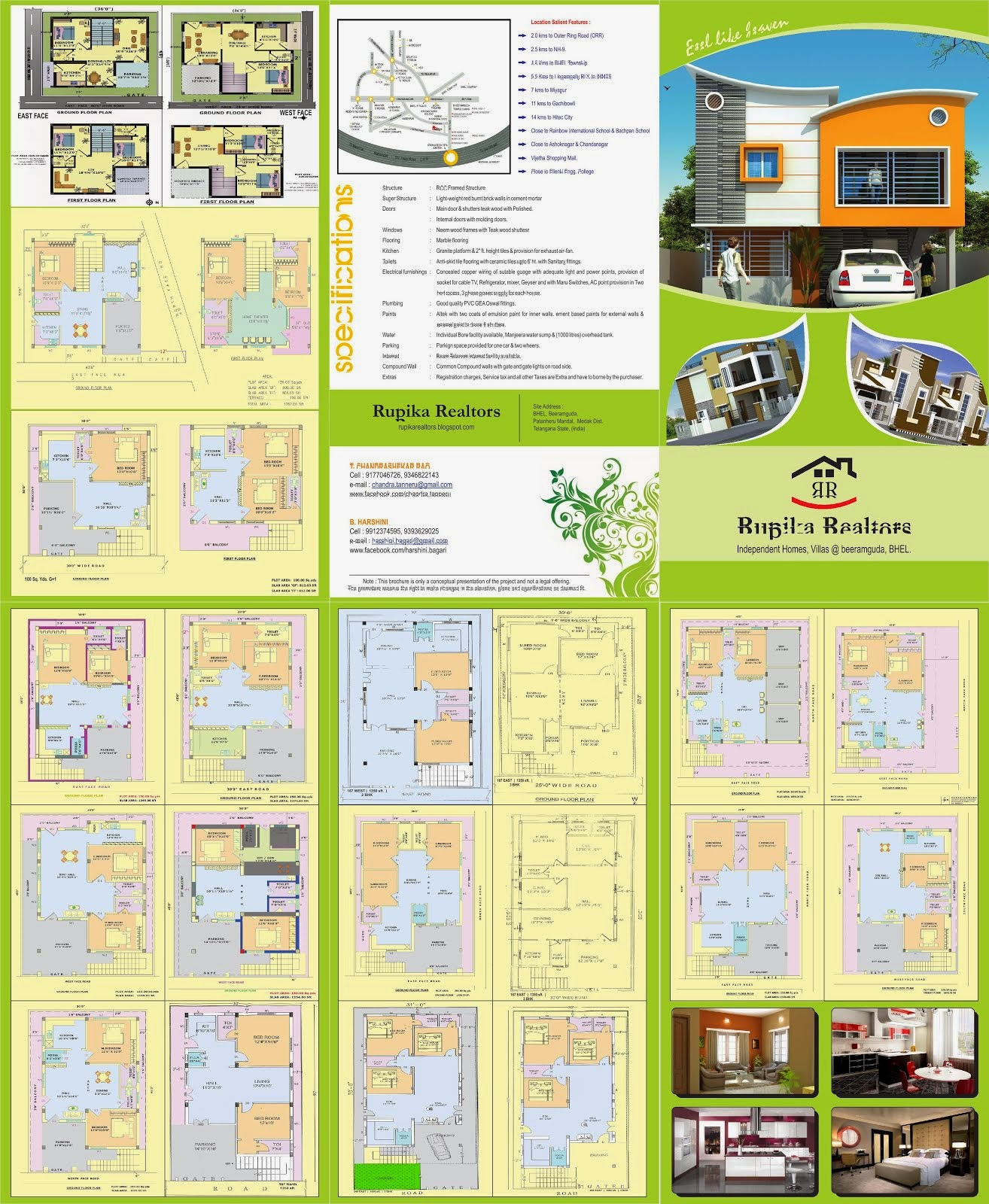 rupika realtors spacious independent houses for in uppal brouchure