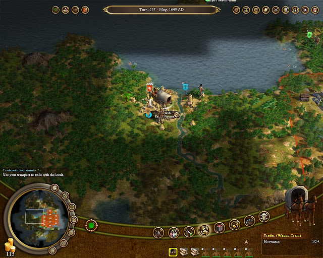 Civilization 4 Colonization - Trading with Natives Screenshot