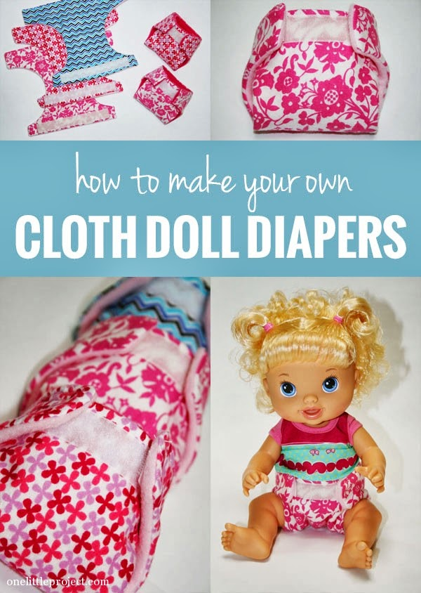 just for fun // doll cloth diapers from onelittleproject.com