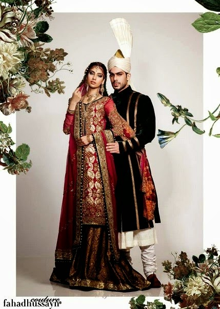 Groom and Bridal Dress by Fahad Hussayn