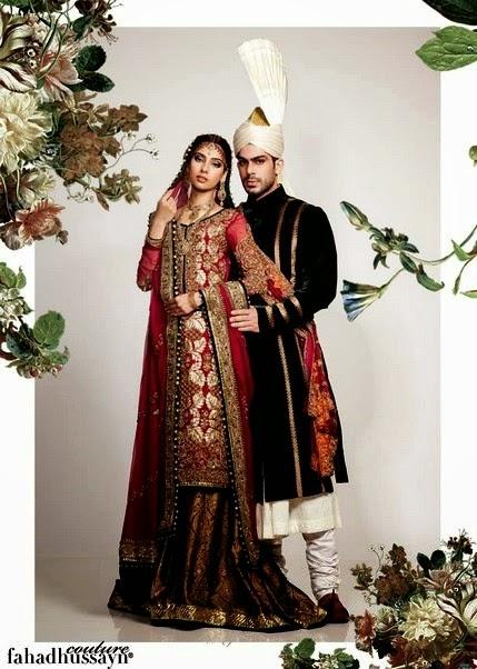 Groom and Bridal Dress by Fahad Hussayn